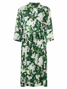 Dolce & Gabbana white geranium printed shirt dress - Green
