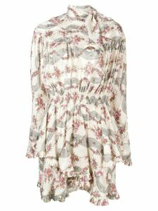 Isabel Marant printed mini dress - White