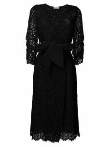 P.A.R.O.S.H. lace wrap dress - Black