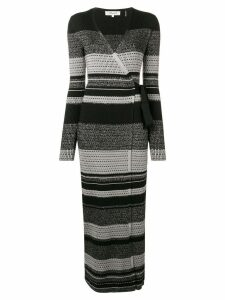 Diane von Furstenberg knitted wrap dress - Black