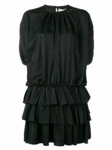 Saint Laurent layered mini dress - Black