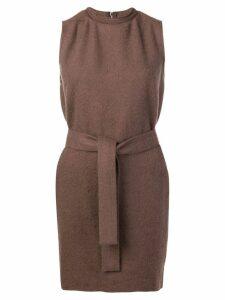 Rick Owens short sleeveless dress - Brown