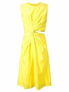 Jil Sander 'Habotai' dress - Yellow