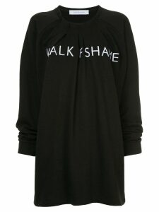 Walk Of Shame branded sweat dress - Black