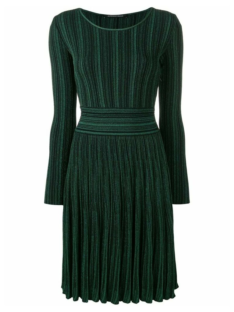 Antonino Valenti glitter ribbed dress - Green
