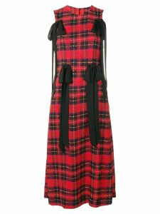 Simone Rocha tartan multi-bow dress - Red