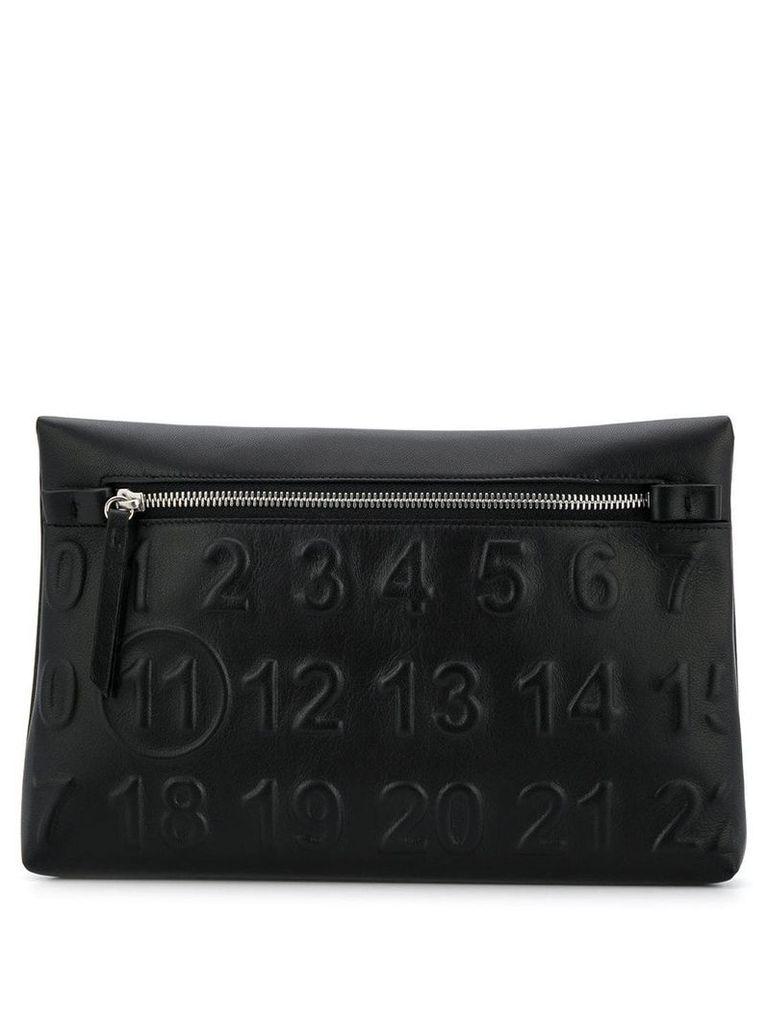 Maison Margiela logo zipped pouch - Black