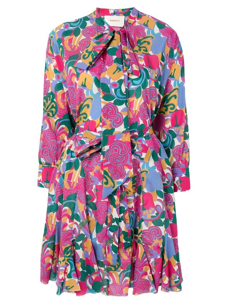 La Doublej graphic print shirt dress - Pink