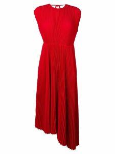 MSGM micro pleated midi dress - Red