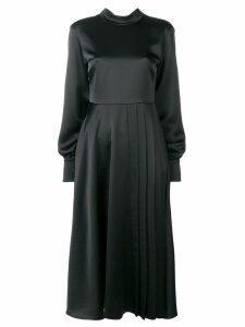 MSGM loose flared dress - Black