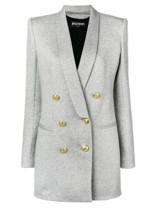 Balmain double breasted coat - Grey