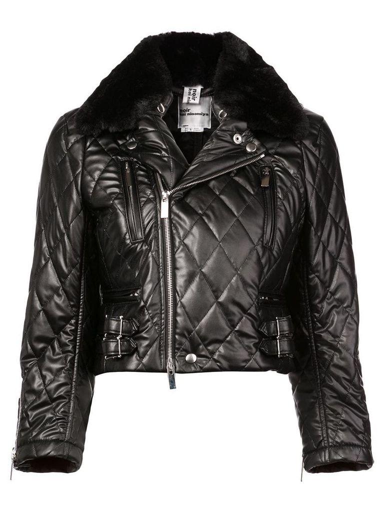 Comme Des Garçons Noir Kei Ninomiya cropped quilted biker jacket -