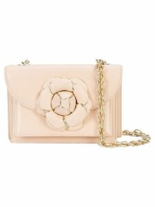 Oscar de la Renta Gardenia double compartment crossbody bag - Neutrals