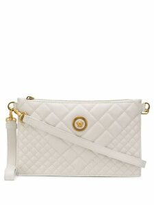 Versace quilted Medusa clutch bag - White