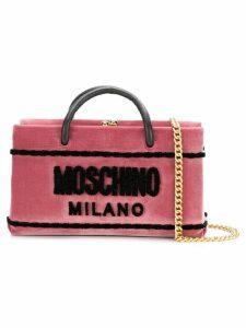 Moschino box clutch bag - Pink