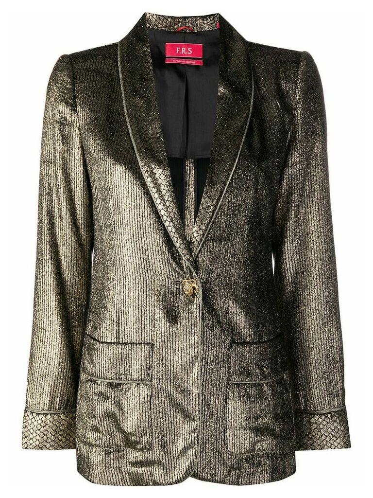 F.R.S For Restless Sleepers metallic blazer
