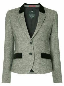 Loveless contrast details blazer - Grey