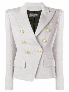 Balmain asymmetric blazer - Grey