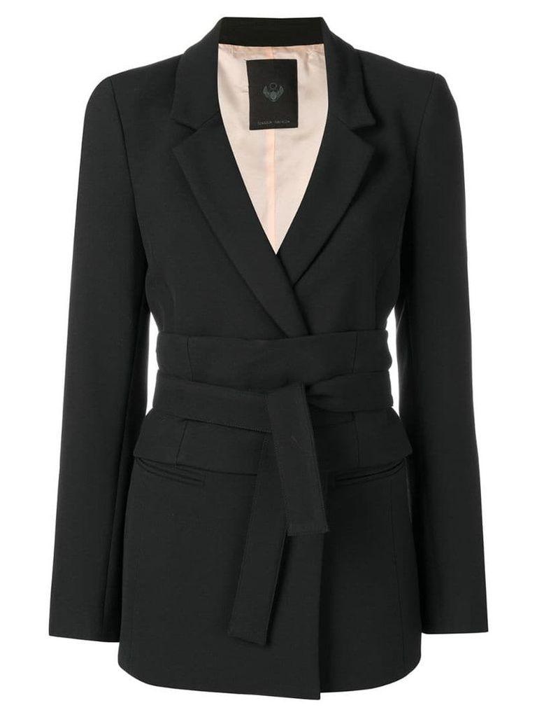 Frankie Morello belted blazer - Black