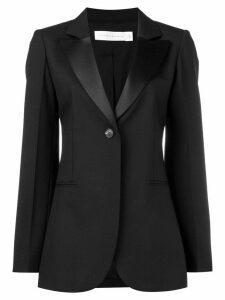 Victoria Beckham sheen lapel blazer - Black