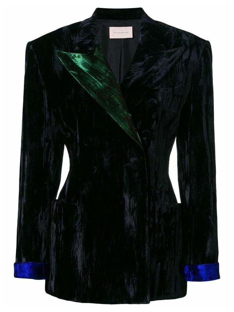 Christopher Kane crushed velvet blazer - Black