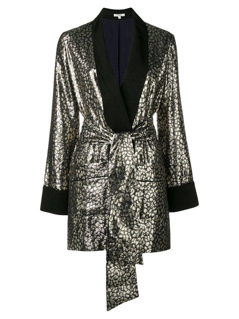 Layeur tie-detail blazer - Gold