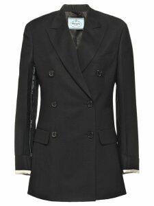 Prada double-breasted jacket - Black