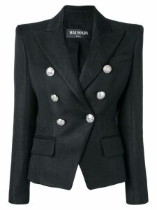 Balmain pointed shoulders blazer - Black