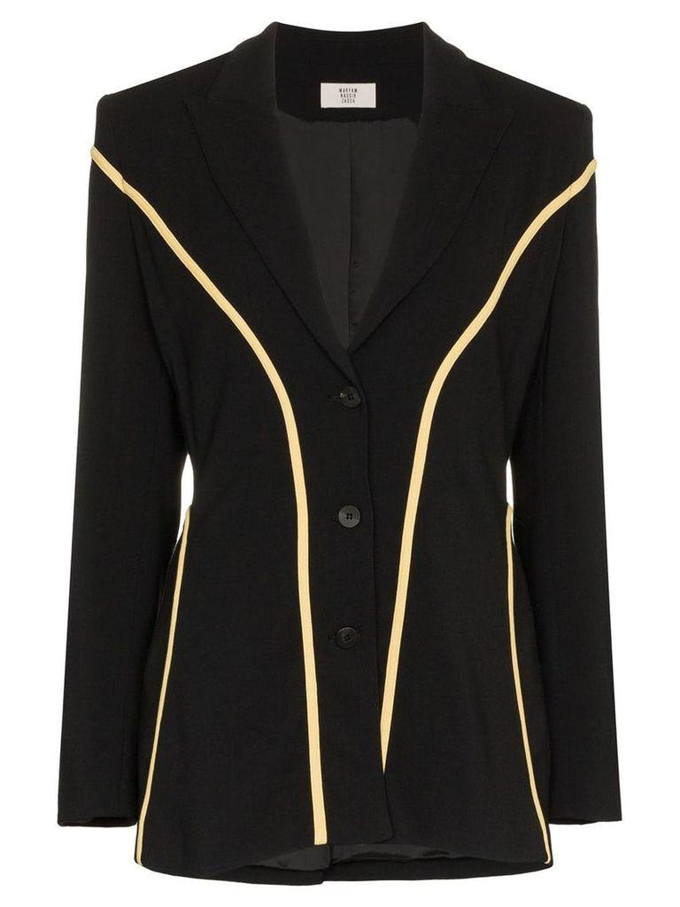 Maryam Nassir Zadeh contrast fitted blazer - Black