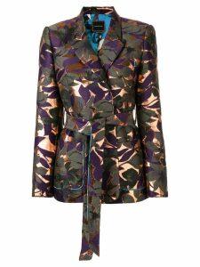 Snow Xue Gao floral print blazer - Purple
