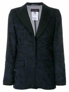 Talbot Runhof peaked lapel blazer - Blue