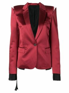 Unravel Project deconstructed blazer - Red