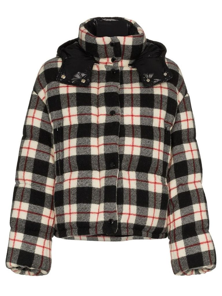 Moncler Caille Checked Down Jacket - Black