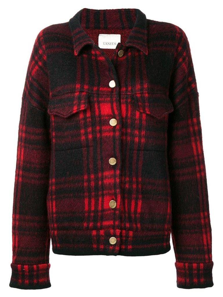 Laneus checked jacket - Red