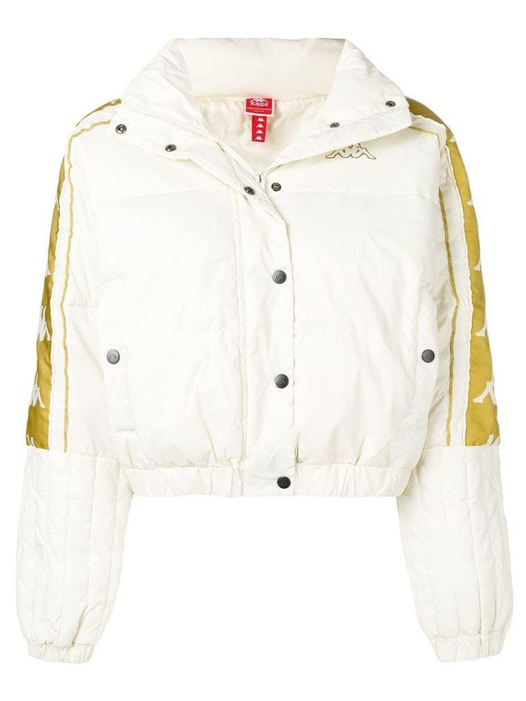 Kappa logo bomber jacket - White