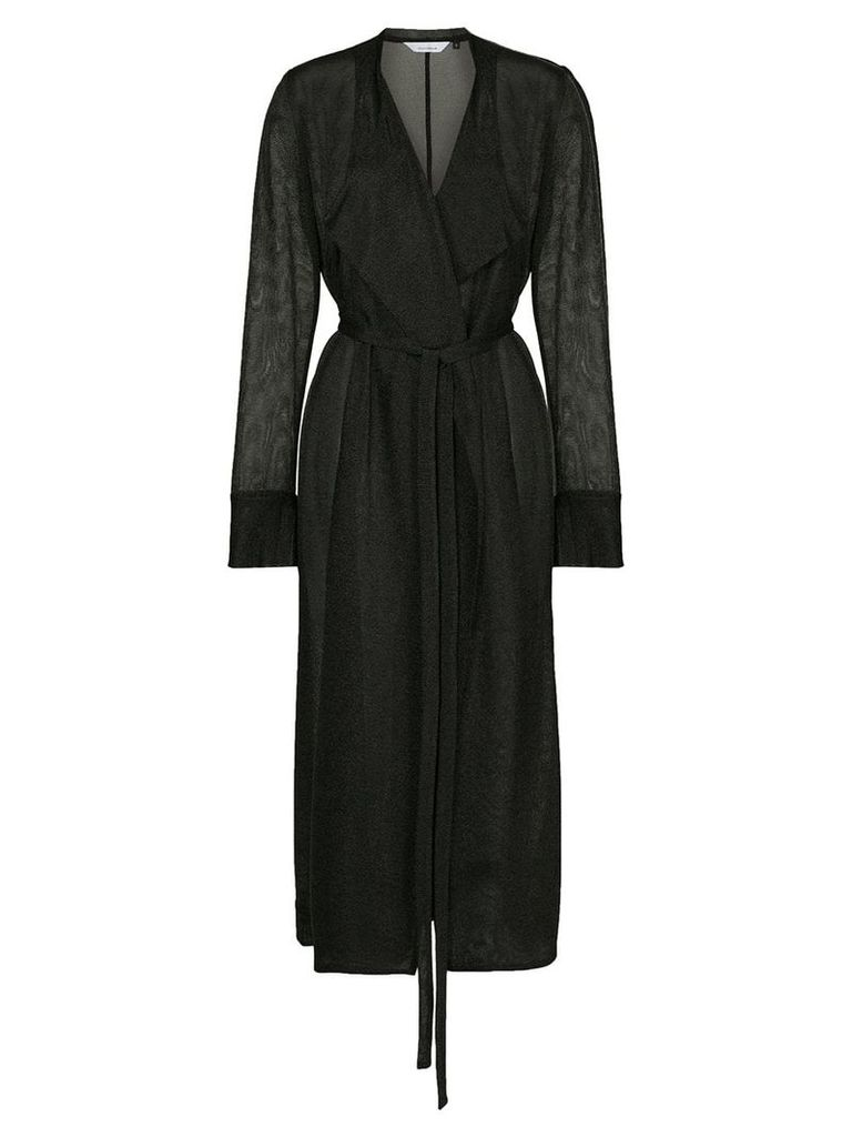 Kacey Devlin sheer wrap jacket - Black