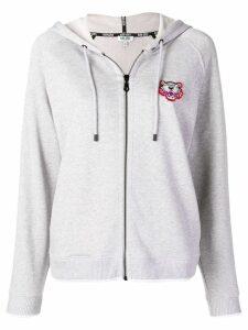 Kenzo Tiger zipped hoodie - Grey