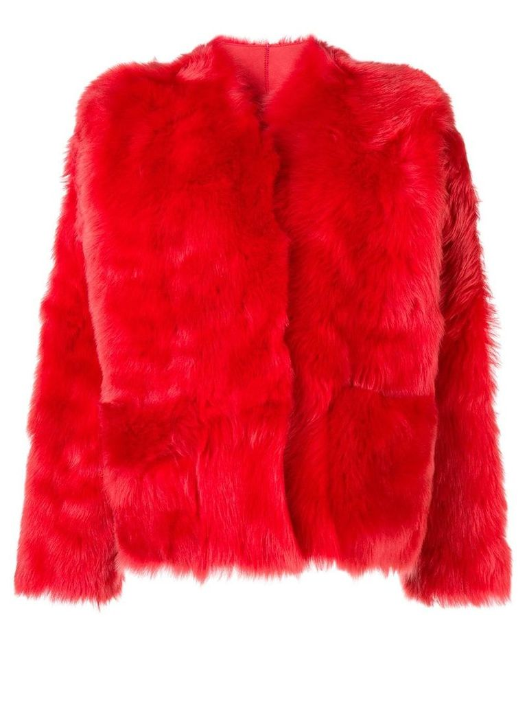 Sofie D'hoore Lima fur coat - Red