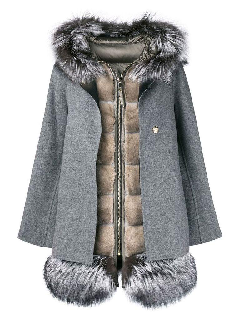 Cara Mila Aurora gilet coat set - Grey
