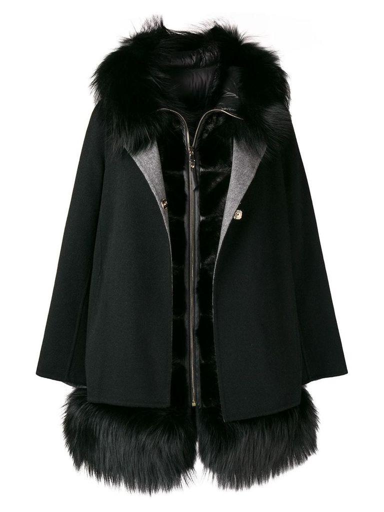 Cara Mila Aurora two-piece coat - Black