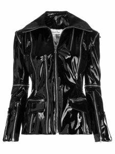 Richard Quinn varnish leather zipped jacket - Black