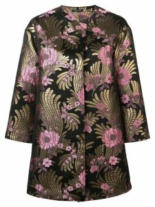 Josie Natori Deco jacquard long jacket - Black
