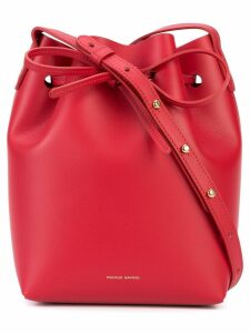 Mansur Gavriel Mini Bucket Bag - Red