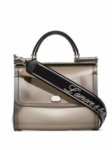 Dolce & Gabbana Sicily Transparent Shoulder Bag - Grey