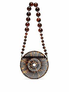 Cult Gaia Brown Luna shoulder bag
