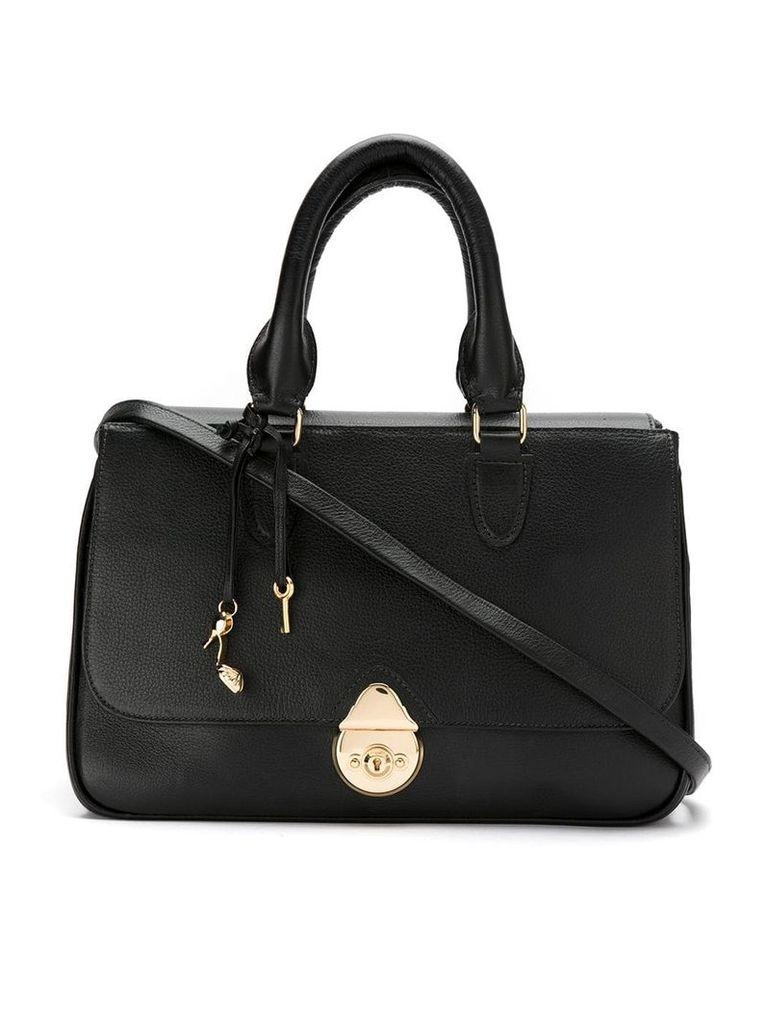 Sarah Chofakian leather shoulder bag - Black
