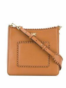 Michael Michael Kors Gloria whipstitched messenger bag - Brown