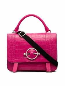 JW Anderson Hibiscus Large Disc Satchel - Pink