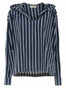 Egrey striped hooded top - Blue