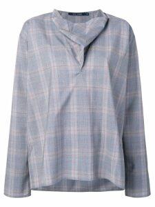 Sofie D'hoore v-cowl neck blouse - Blue